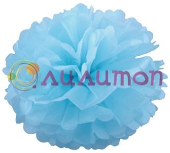 Помпон 25 см (голубой) - фото 7270
