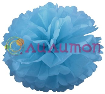 Помпон 35 см (темно-голубой) - фото 7353