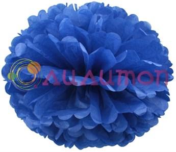 Помпон 15 см (синий) - фото 7362