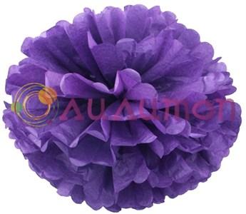 Помпон 35 см (фиолетовый) - фото 7413