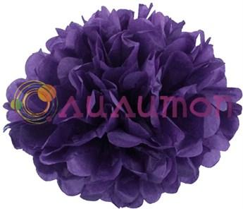 Помпон 25 см (темно-фиолетовый)