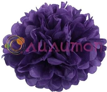 Помпон 35 см (темно-фиолетовый) - фото 7428