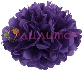 Помпон 45 см (темно-фиолетовый) - фото 7431