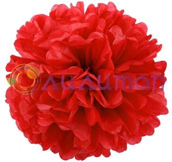 Помпон 25 см (красный) - фото 7516