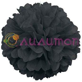 Помпон 15 см (черный) - фото 7532