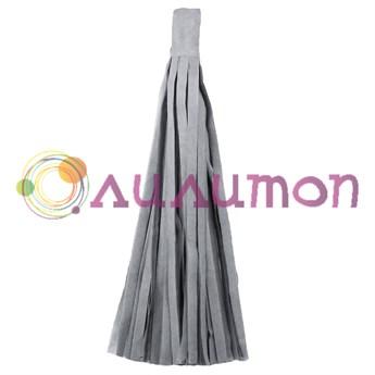 Помпон 'Кисточка Тассел' 35 см, 5 шт  (серый)