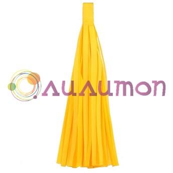 Помпон 'Кисточка Тассел' 35 см, 5 шт  (ярко-желтый)