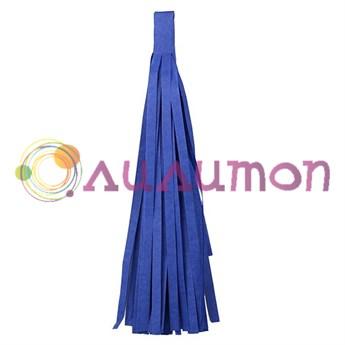 Помпон 'Кисточка Тассел' 35 см, 5 шт  (синий)