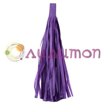 Помпон 'Кисточка Тассел' 35 см, 5 шт  (фиолетовый)