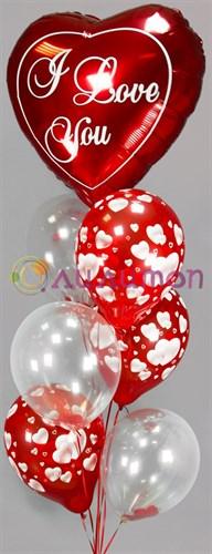 """Букет из воздушных шаров """"Любовь"""" - фото 7828"""