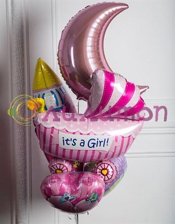 Букет из воздушных шаров 'Для девочки'