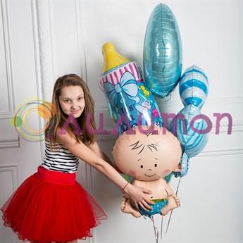 """Букет из воздушных шаров """"Для мальчика"""" - фото 7975"""