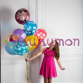 Букет из воздушных шаров 'Любимой маме'