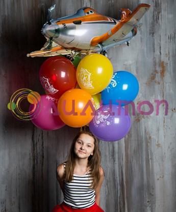 Букет из воздушных шаров 'Юному защитнику'