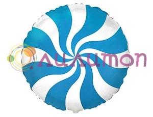 Фольгированный шар 'Конфета голубая'