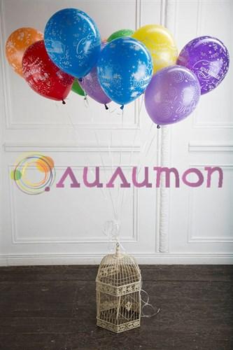 Облако из воздушных шаров 'Поздравляем' с праздником