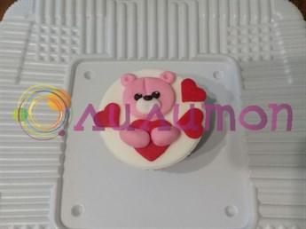 Капкейки 'Розовый мишка'