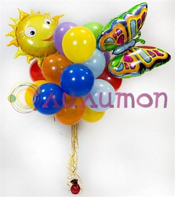 Букет из воздушных шаров  'Лето'