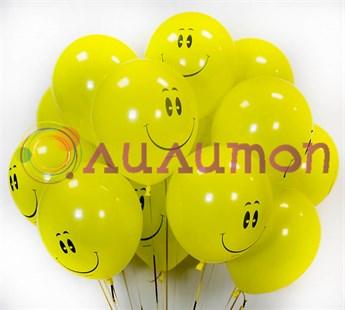 Воздушные шары  под потолок 'Смайлы'