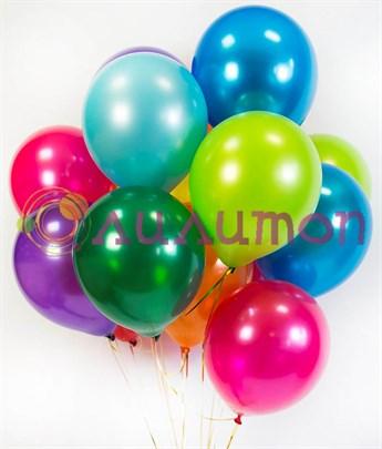 Облако из воздушных шаров ассорти металлик  - фото 8548