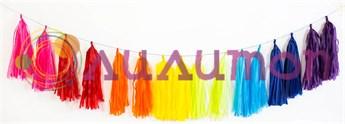 Разноцветная гирлянда из кистей тассел