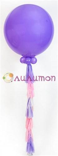 Большой лиловый шар с кистью тассел - фото 8590