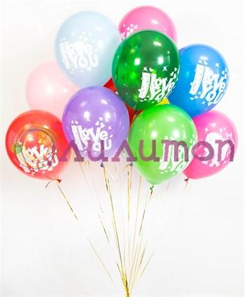 Воздушные шары под потолок 'Love is...'