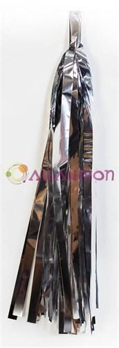 Помпон 'Кисточка Тассел' 35 см, 5 шт  (серебристый)