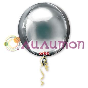 Фольгированный шар 3D СФЕРА 16' Металлик Silver
