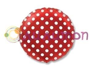 Фольгированный шар 18' Горошек на красном