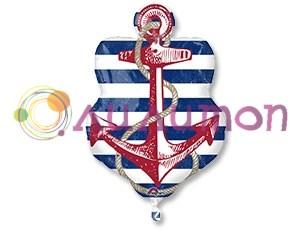Фольгированный шар фигура Морская, Якорь