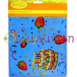 Скатерть полиэтиленовая Праздничный торт 140см X 180см - фото 8711