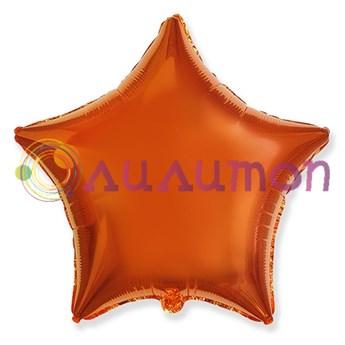 Фольгированный шар 'Звезда ORANGE' 40см
