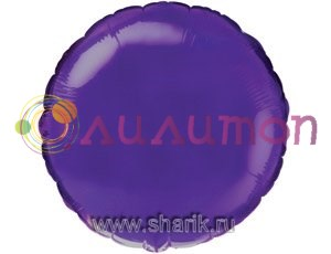 """Фольгированный шар """"Фиолетовый круг"""" Металлик 65 см - фото 8755"""
