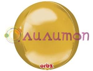Фольгированный шар 3D СФЕРА Металлик Gold 16'