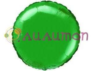Фольгированный шар 'Зеленый круг' 65 см