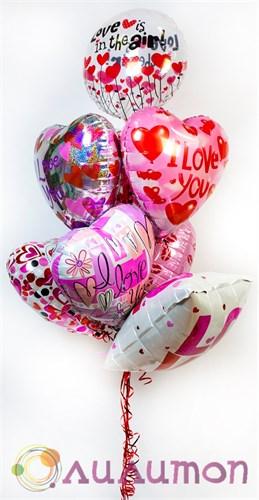 Букет из фольгированных шаров 'Любовь в воздухе'