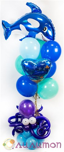 """Букет шаров """"Подводный мир"""" - фото 8852"""