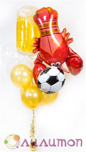 Букеты из шаров 'Краб и футбольный мяч'