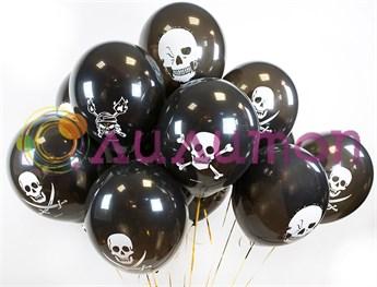 Облако из воздушных шаров пиратских шаров - фото 8904