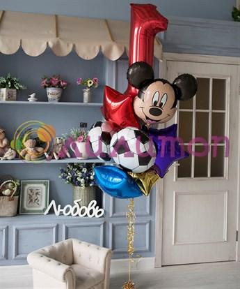 Букет из фольгированных шаров 'Микки Маус' с датой