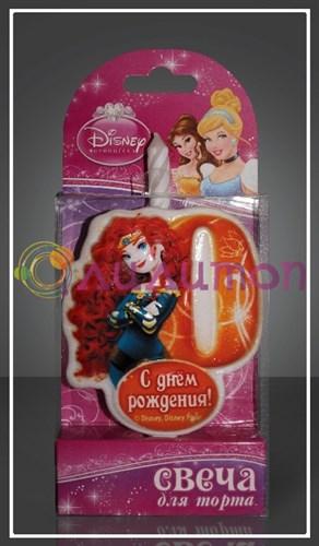 "Свеча-цифра для торта 0 Disney ""Принцесса Мерида"" - фото 9042"