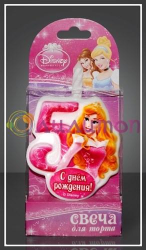"Свеча-цифра для торта 5 Disney ""Принцесса Аврора"" - фото 9050"