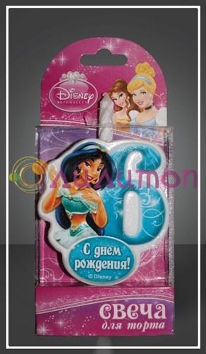 """Свеча-цифра для торта 6 Disney """"Принцесса Жасмин"""" - фото 9052"""