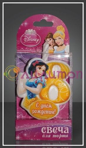"Свеча-цифра для торта 8 Disney ""Принцесса Белоснежка"" - фото 9056"