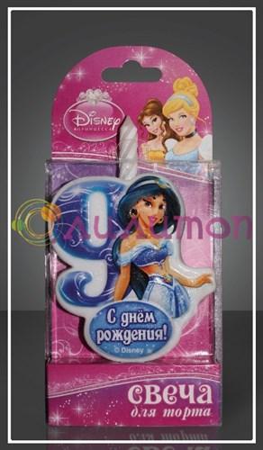 """Свеча-цифра для торта 9 Disney """"Принцесса Жасмин"""" - фото 9058"""