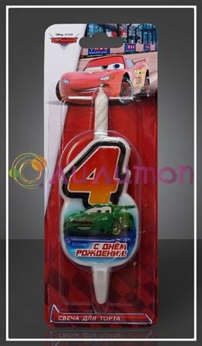 Свеча-цифра для торта Disney Тачки 4 - фото 9068