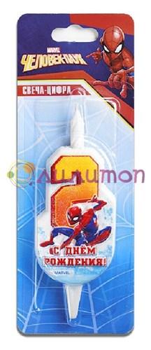 """Cвеча тортовая 2 """"Человек-паук""""  - фото 9240"""