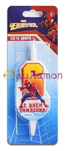 Cвеча тортовая 6 'Человек-паук'