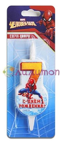 Cвеча тортовая 7 'Человек-паук'